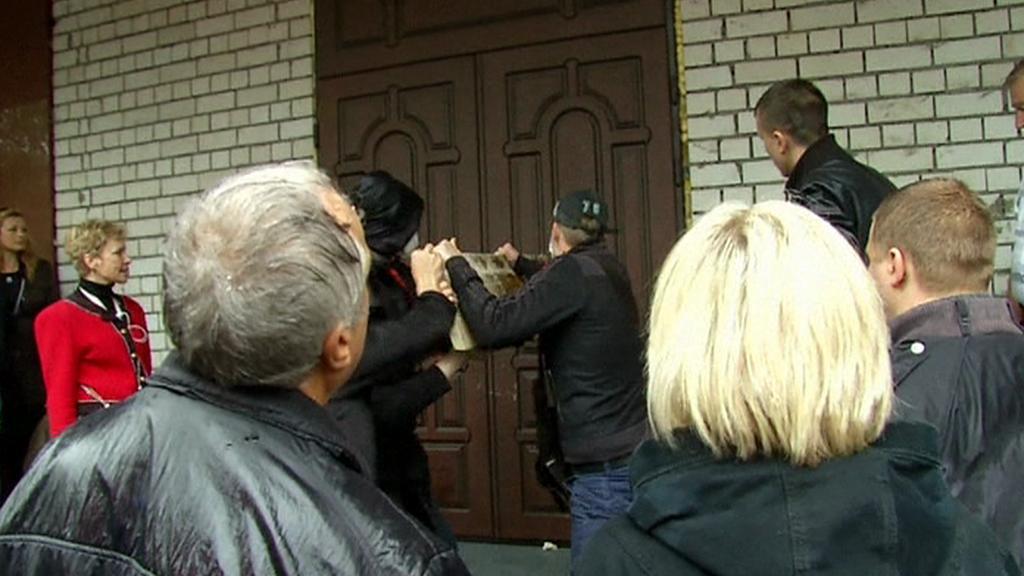 Útok na policejní stanici v Oděse