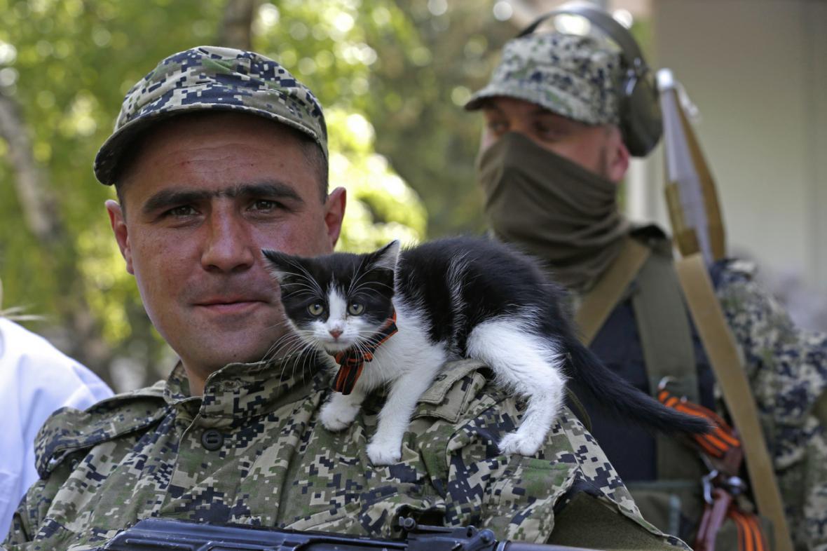 Proruské milice v Kramatorsku