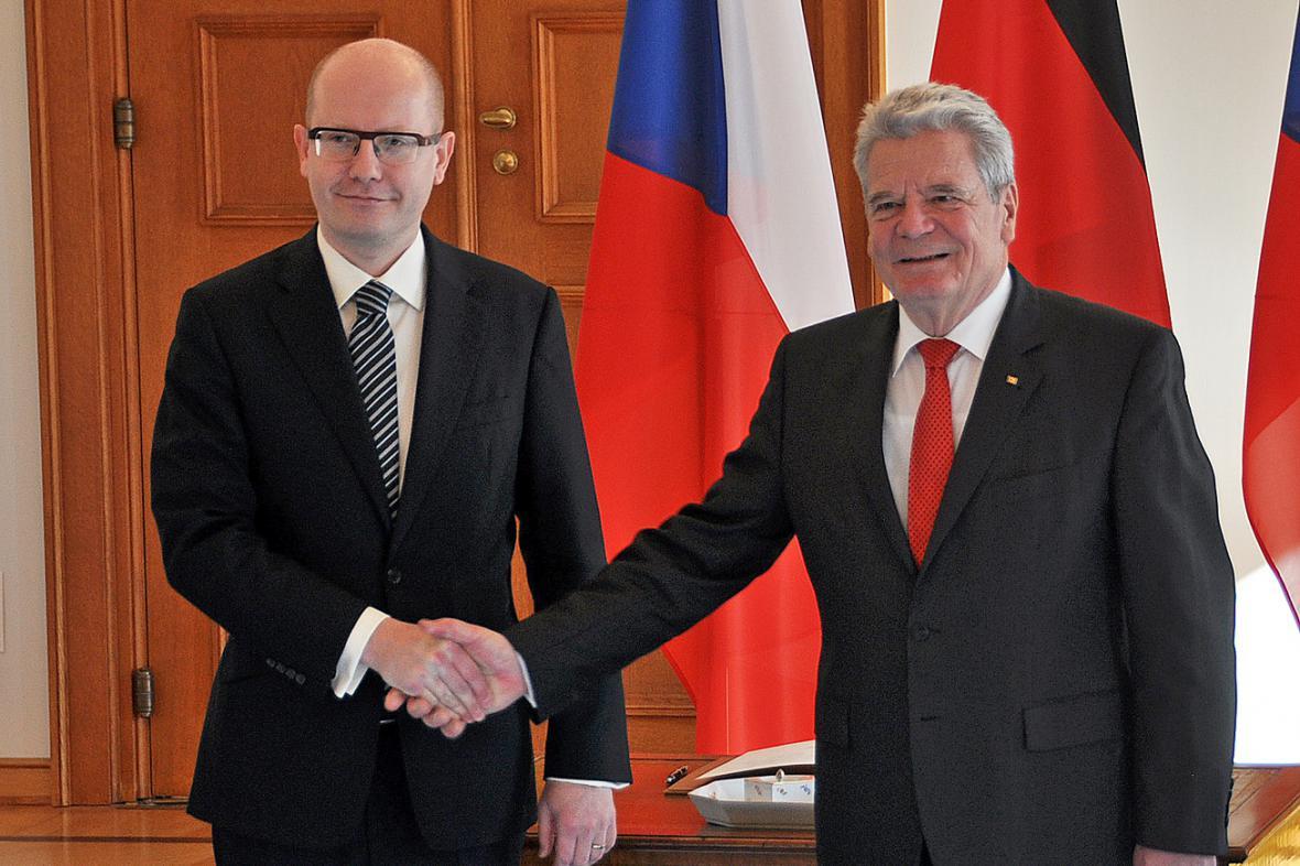 Bohuslav Sobotka a Joachim Gauck