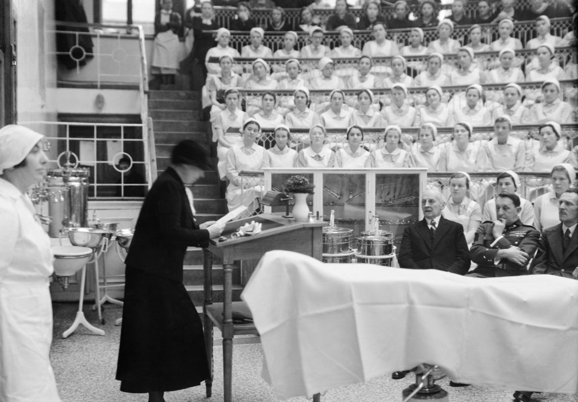 Proslov Masarykové na kurzu diplomovaných sester