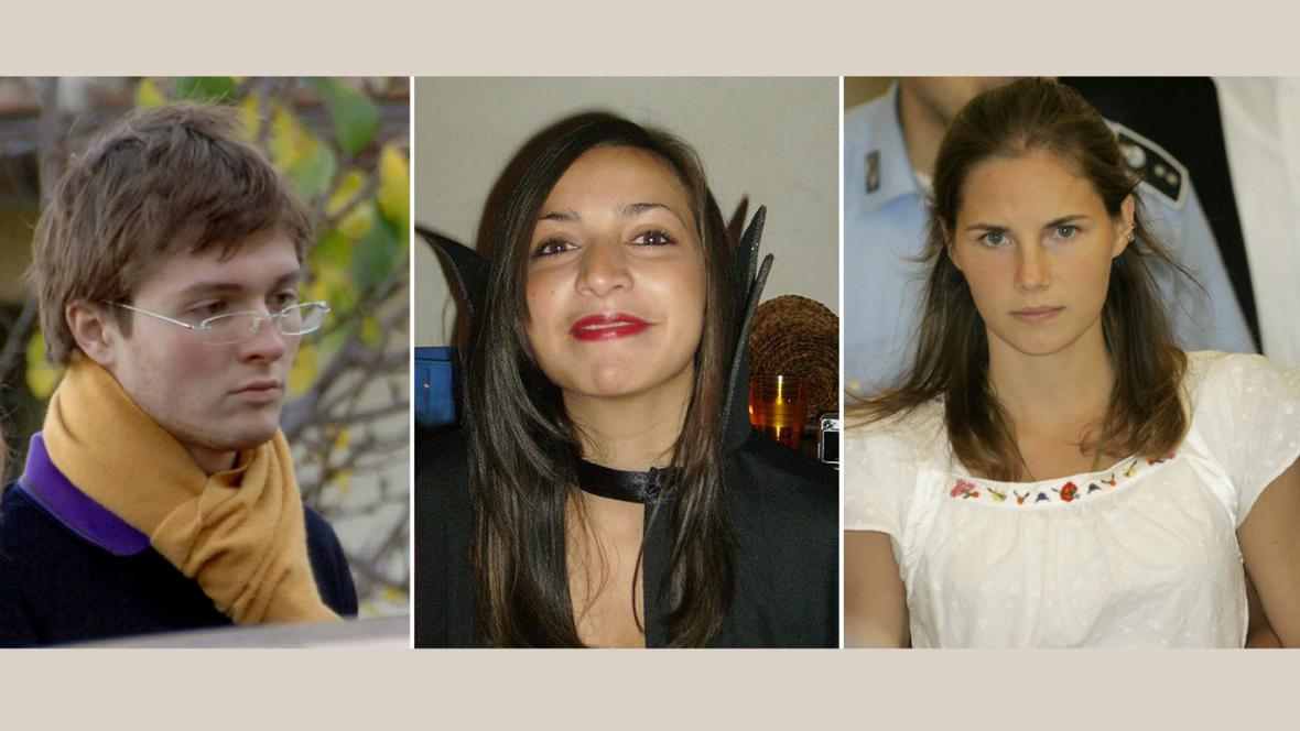 Raffaele Sollecito, Meredith Kercherová a Amanda Knoxová