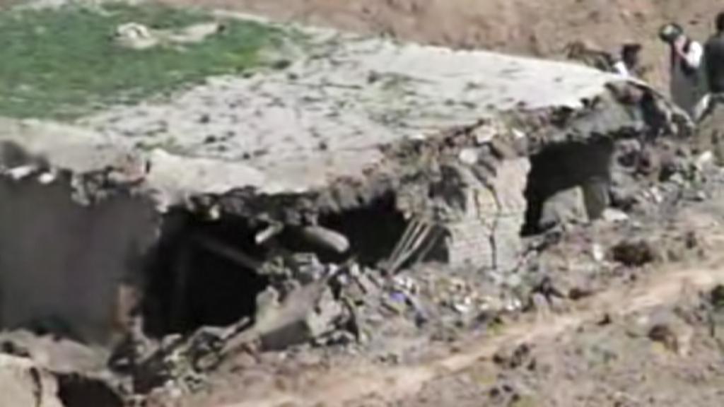 Následky sesuvu půdy v Badachšánu