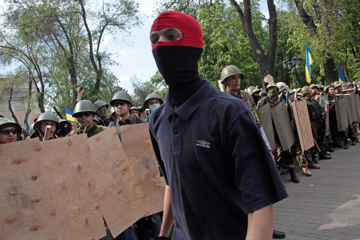 Střety demonstrantů v Oděse