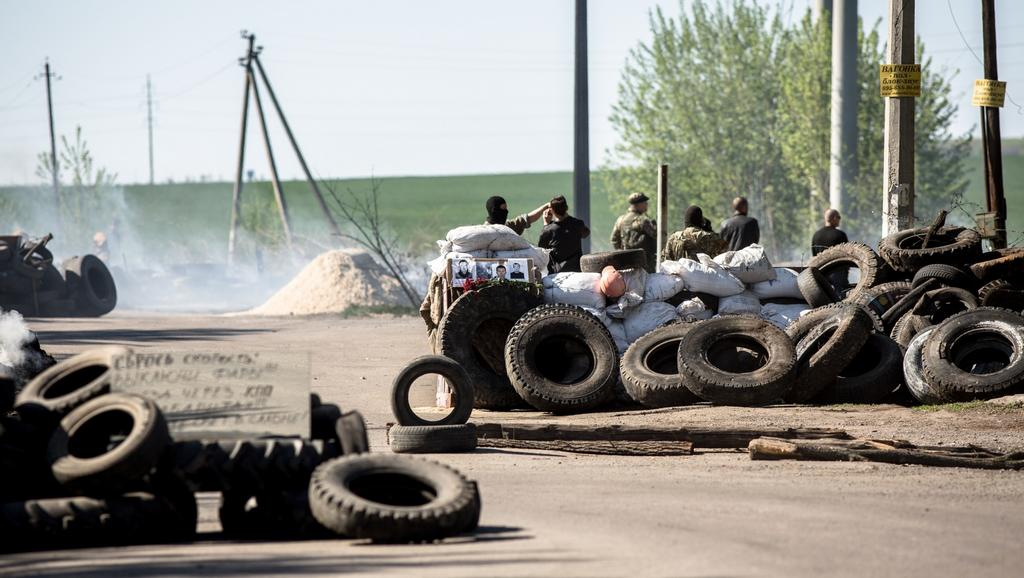 Separatisté u ukrajinského Slavjansku