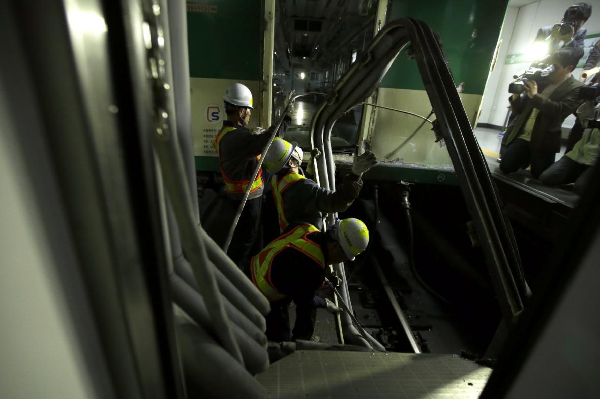 Nehoda v metru v Soulu