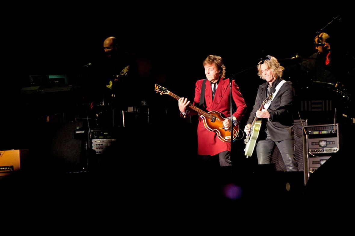 Paul McCartney na koncertě v ekvádorském Quitu