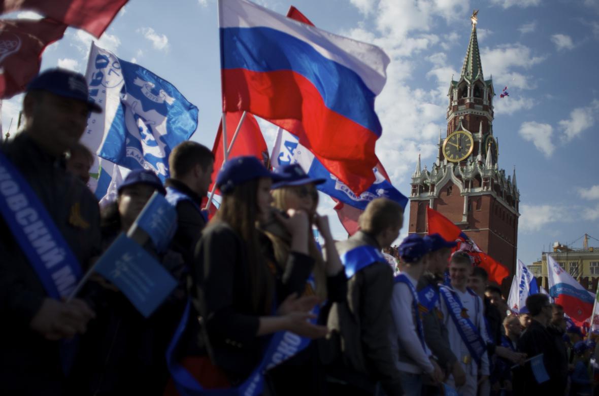 Prvomájové oslavy v Moskvě