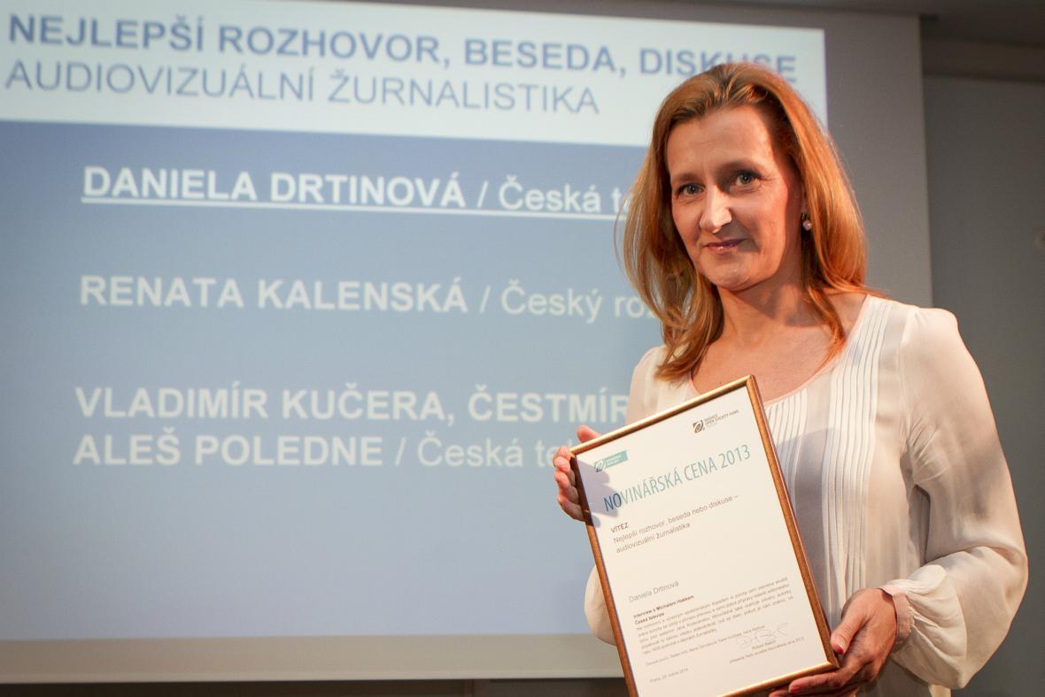 Daniela Drtinová získala cenu za rozhovor s Michalem Haškem