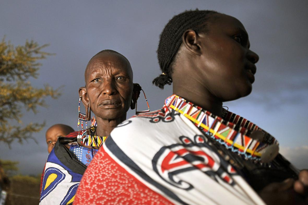 Keňské příslušnice kmene Masajů