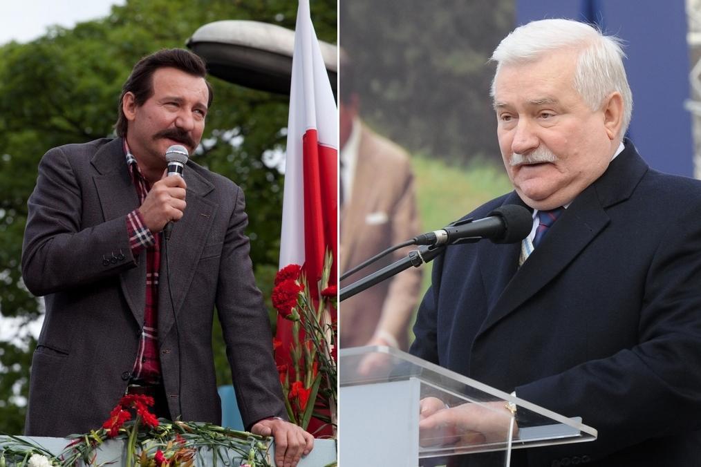 Robert Więckiewicz a Lech Walesa