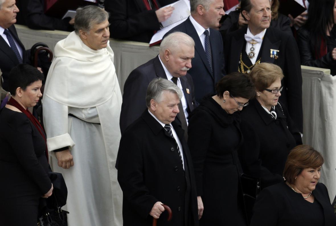 Lech Walesa dorazil do Říma na svatořečení Jana Pavla II.