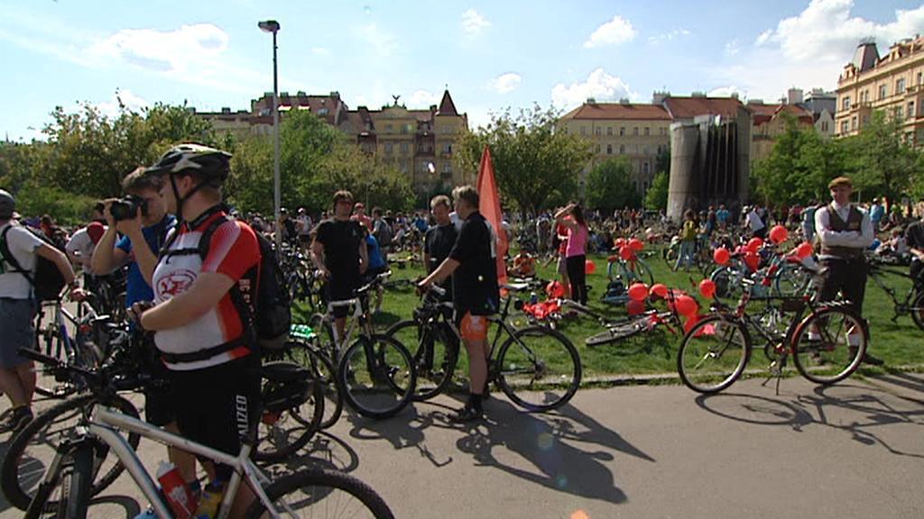 Start pražské cyklojízdy