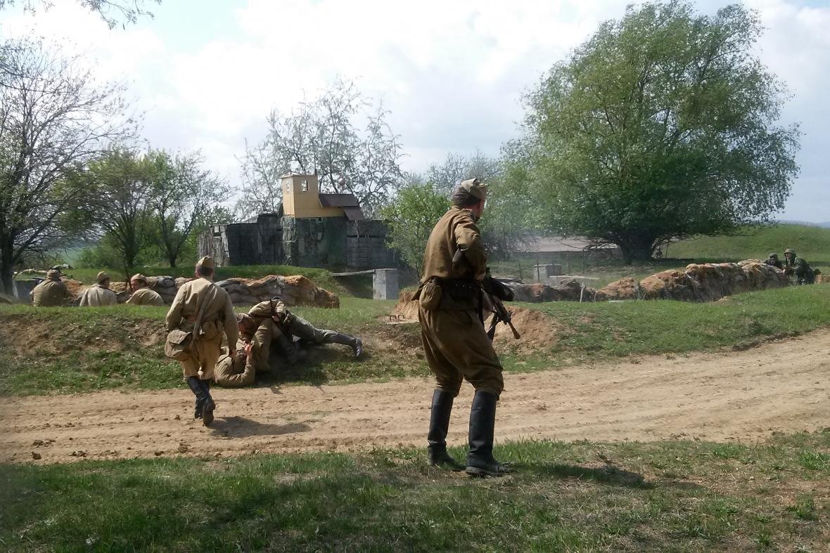 Rekonstrukce bitvy u Ořechova