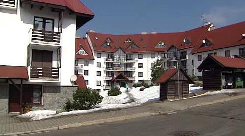 Bývalý objekt podniku Crystalex v Harrachově