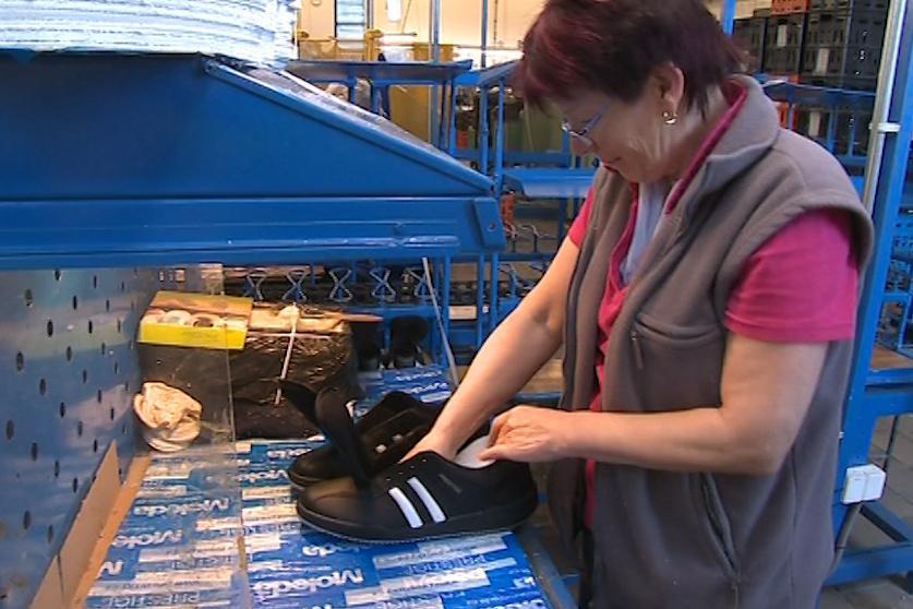 Výroba sportovní obuvi