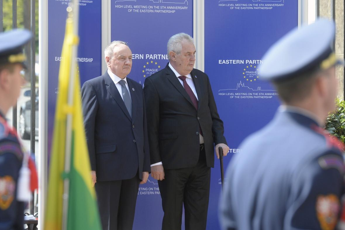 Nicolae Timofti a Miloš Zeman
