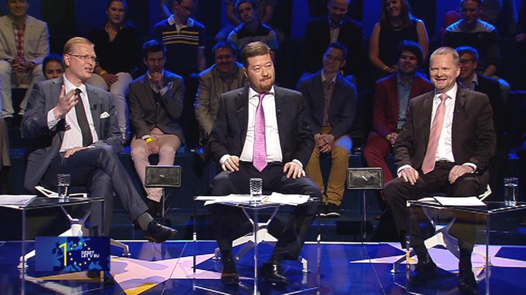 Debata předsedů stran před evropskými volbami