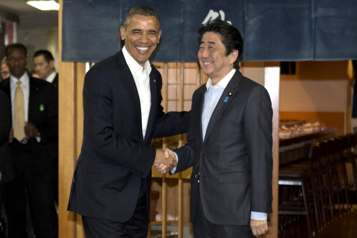Barack Obama a Šinzó Abe