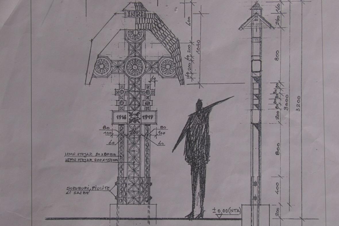 Rumunská ambasáda už má plány na podobu nového kříže