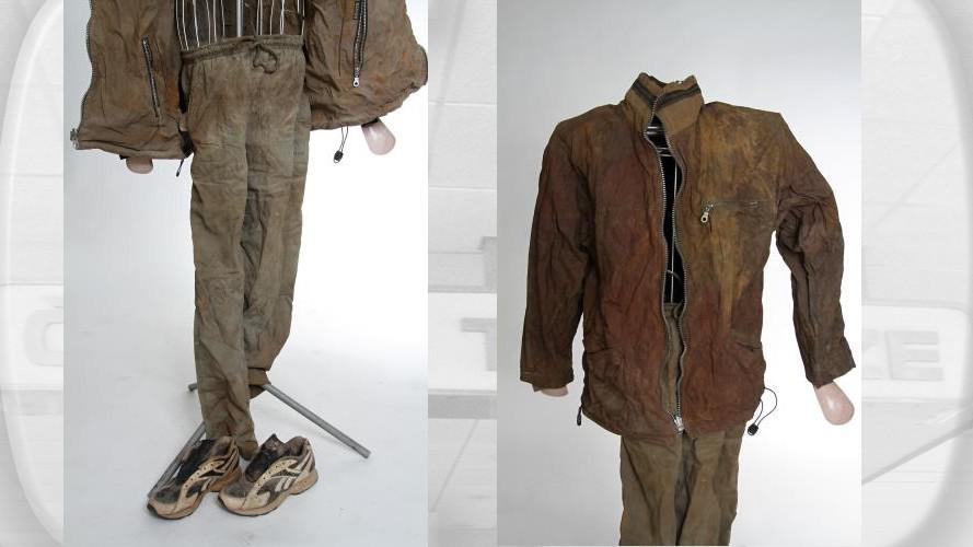 Oblečení zavražděného muže z Orlické přehrady