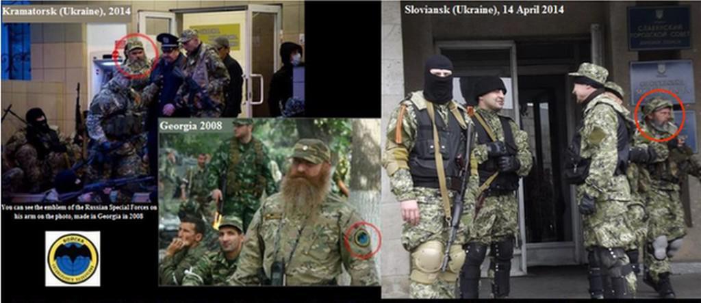 Příslušníci ruských speciálních sil na Ukrajině