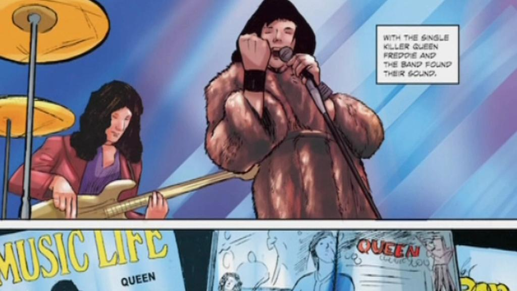 Komiks o životě Freddieho Mercuryho