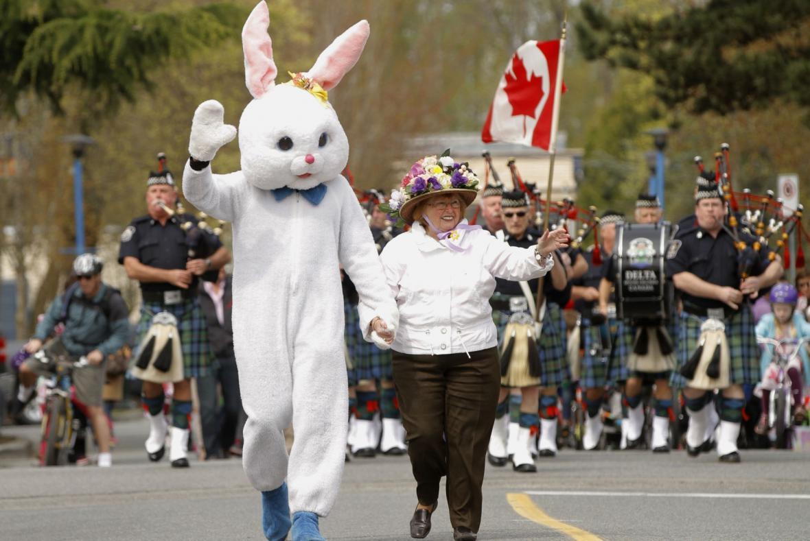 Velikonoční průvod ve Vancouveru