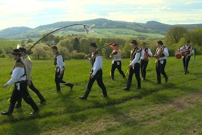 Tradiční pomlázka v Provodově na Zlínsku