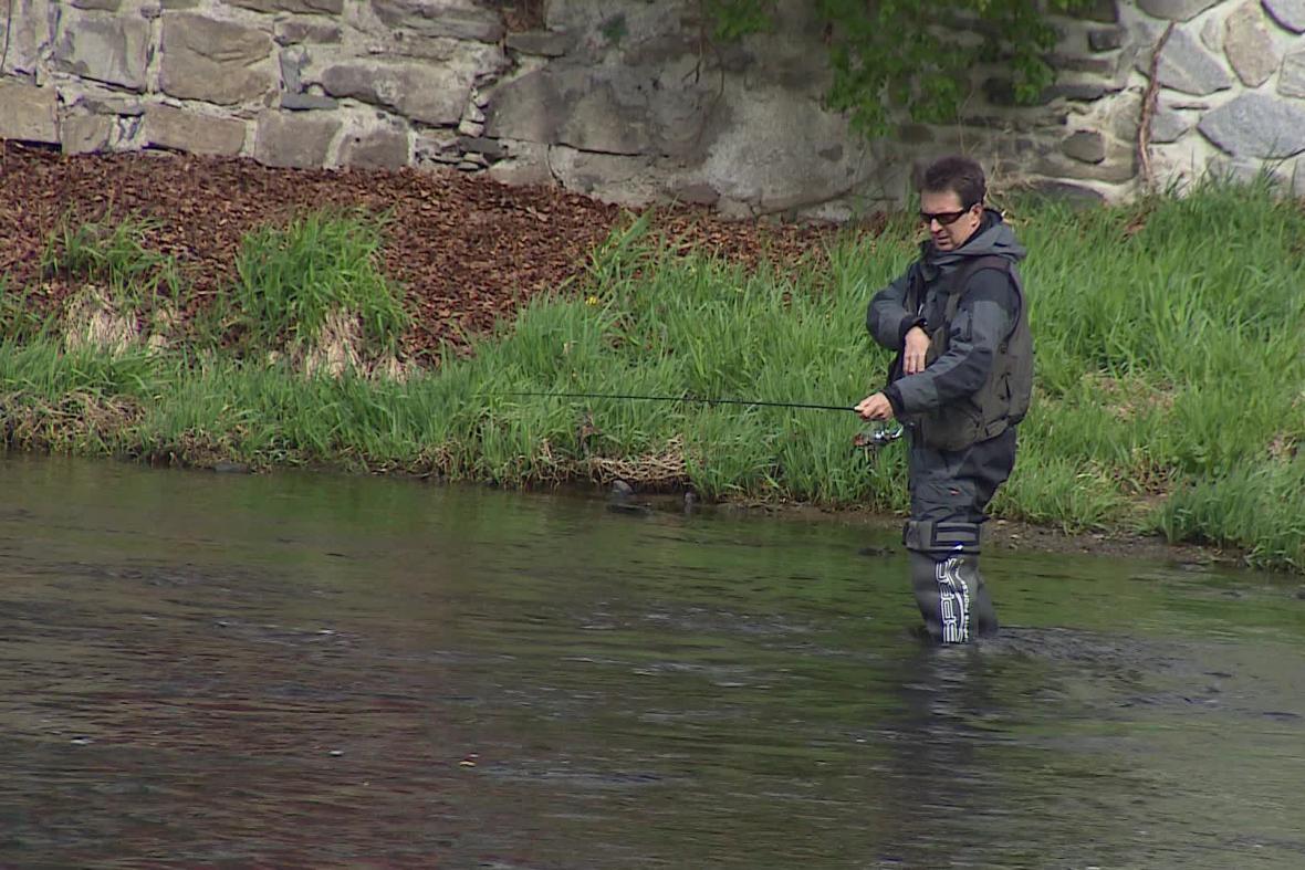 Rybář u Vranova nad Dyjí