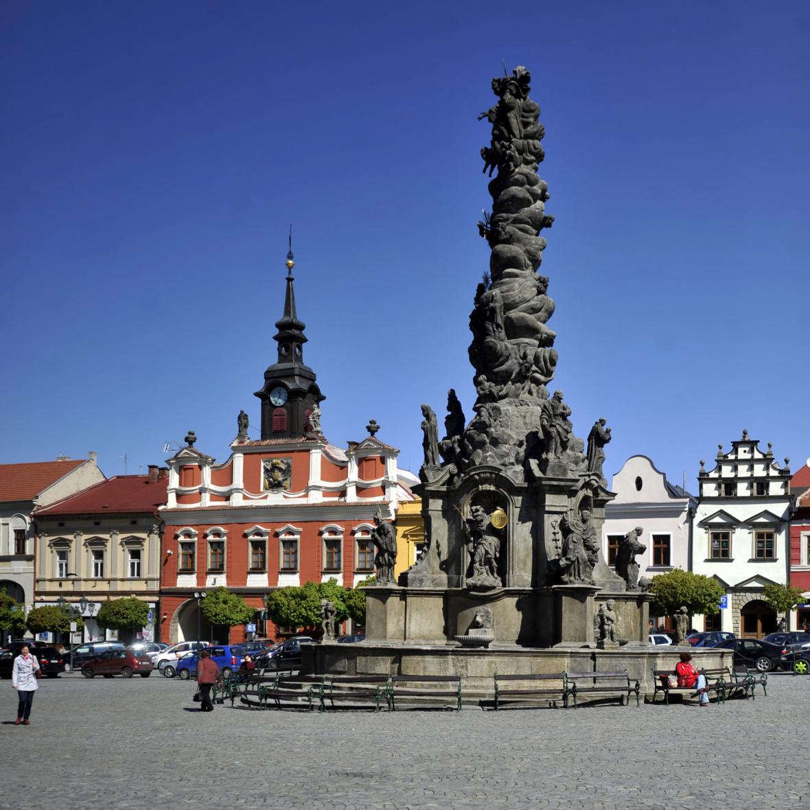 Resselovo náměstí v Chrudimi