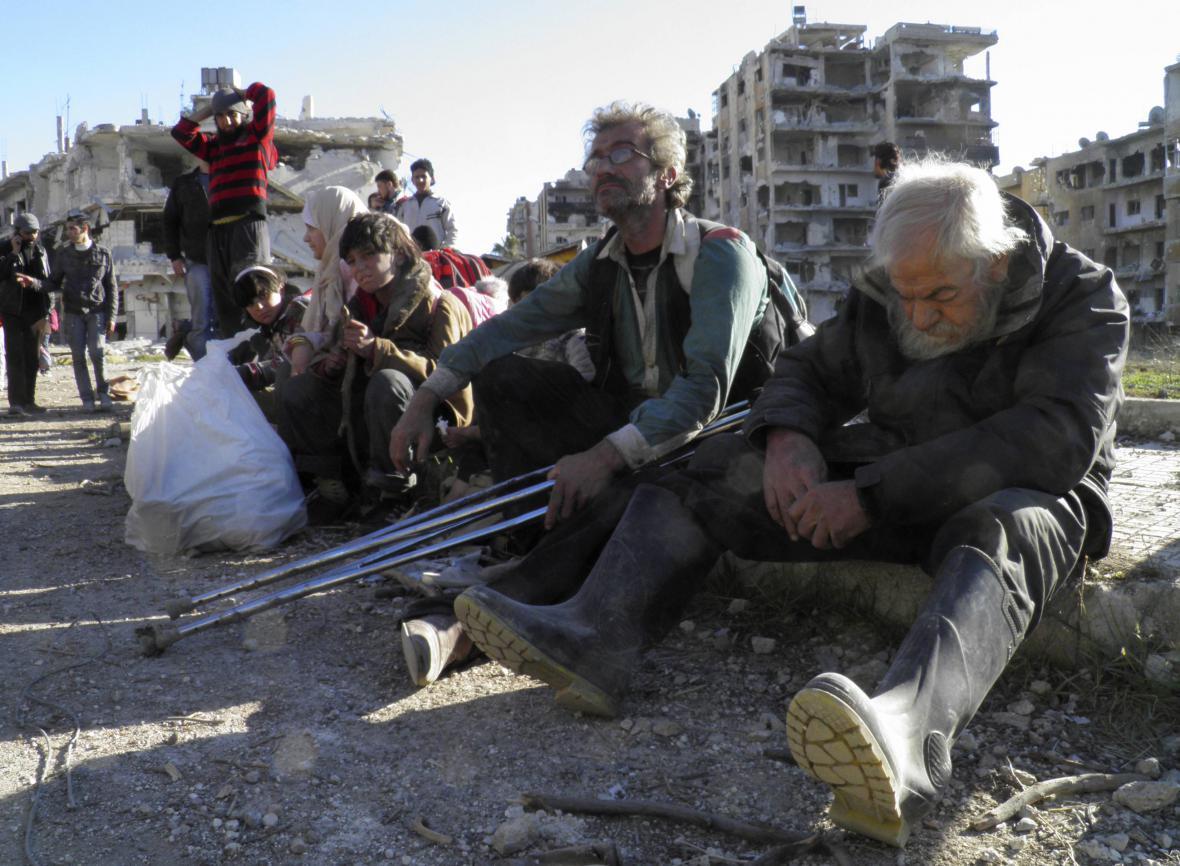 Obyvatelé syrského města Homs