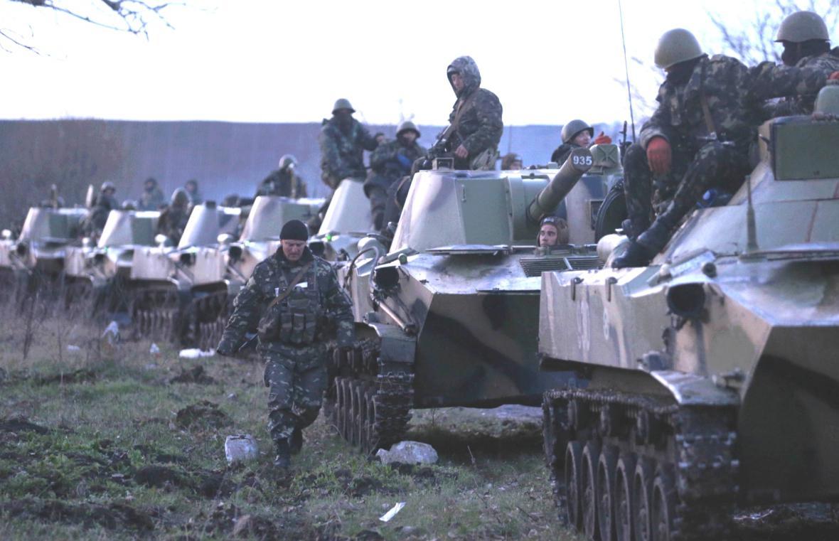 Ukrajinské jednotky shromážděné kolem Slavjansku