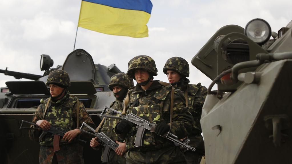Vládní jednotky při vyčkávání nedaleko Slavjansku