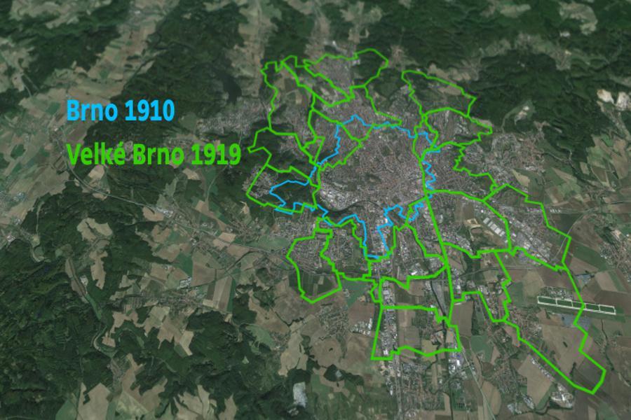 Jak se Brno v roce 1919 změnilo