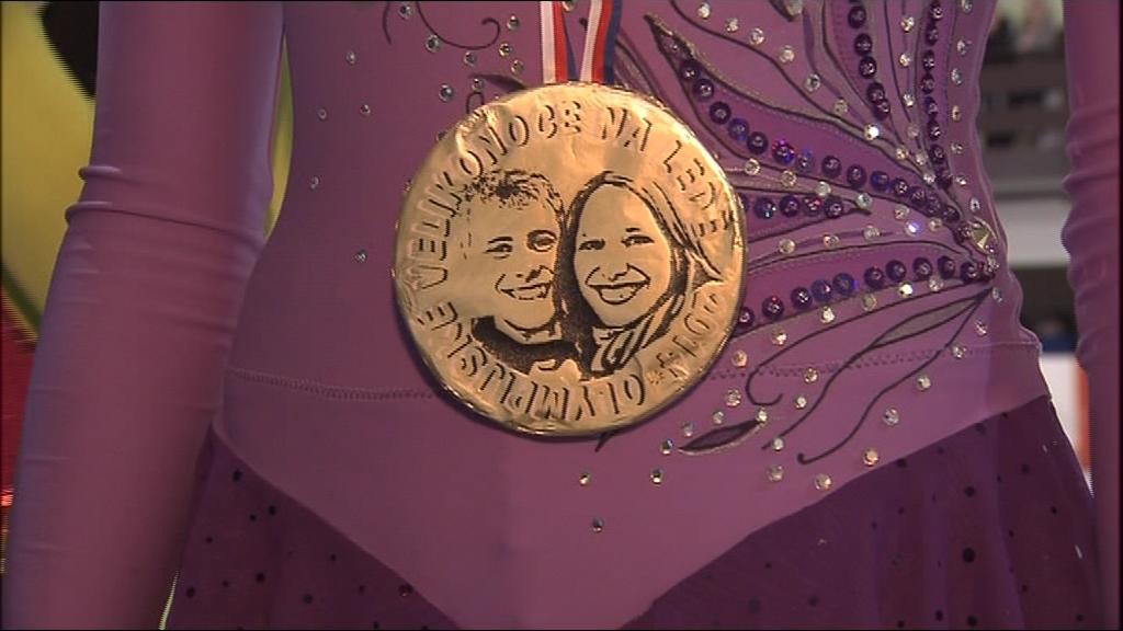 Malí krasobruslaři byli odměněni i olympijskými medailemi