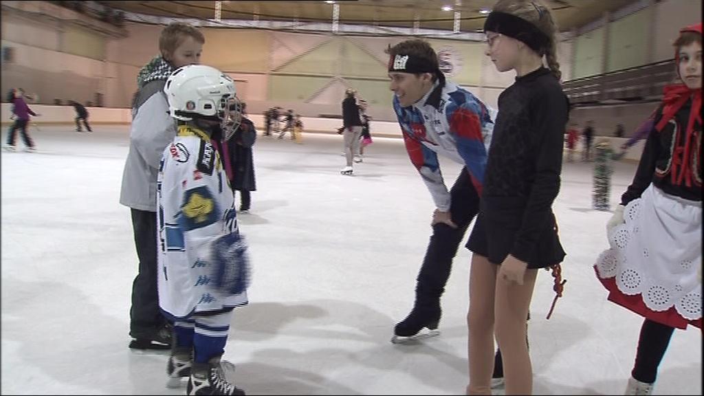 Michal Březina si zabruslil se svými malými obdivovateli
