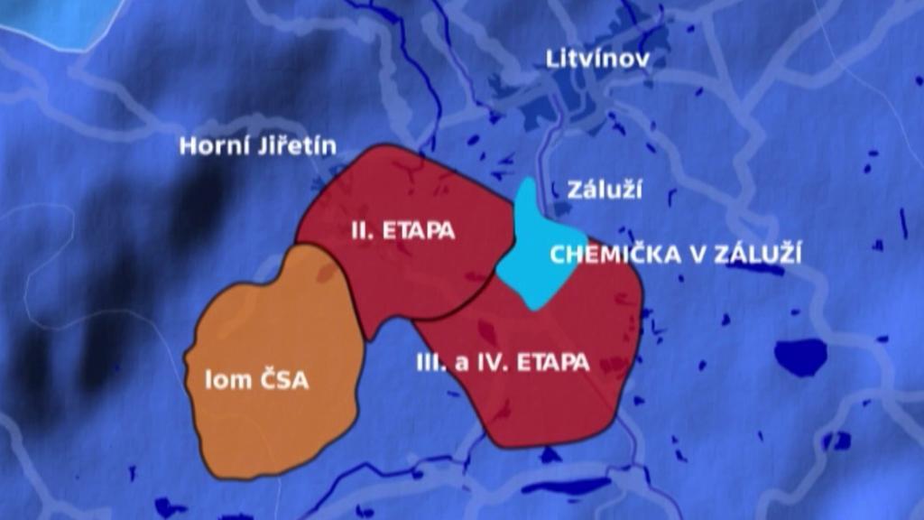 Oblasti s ložisky uhlí v Ústeckém kraji