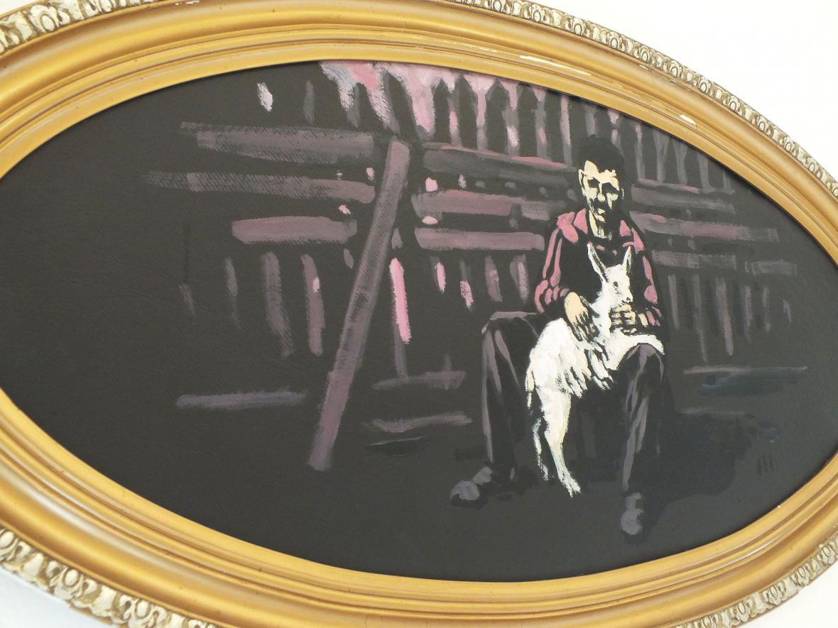 Z vernisáže výstavy obrazů
