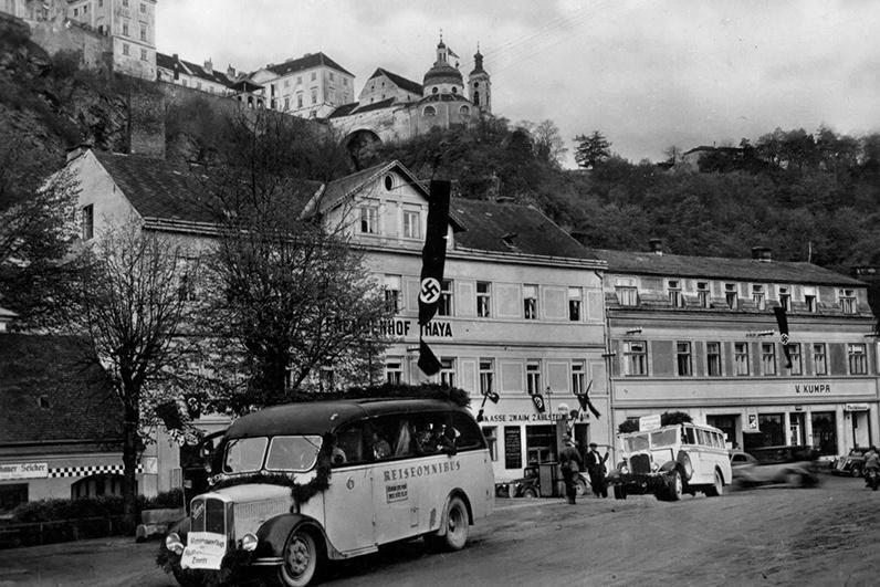 Vranov nad Dyjí na historické fotografii