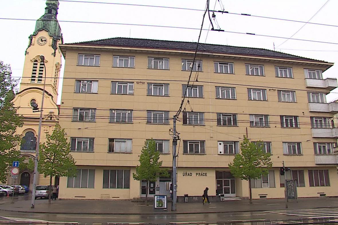 Úřad práce v brněnské Křenové ulici