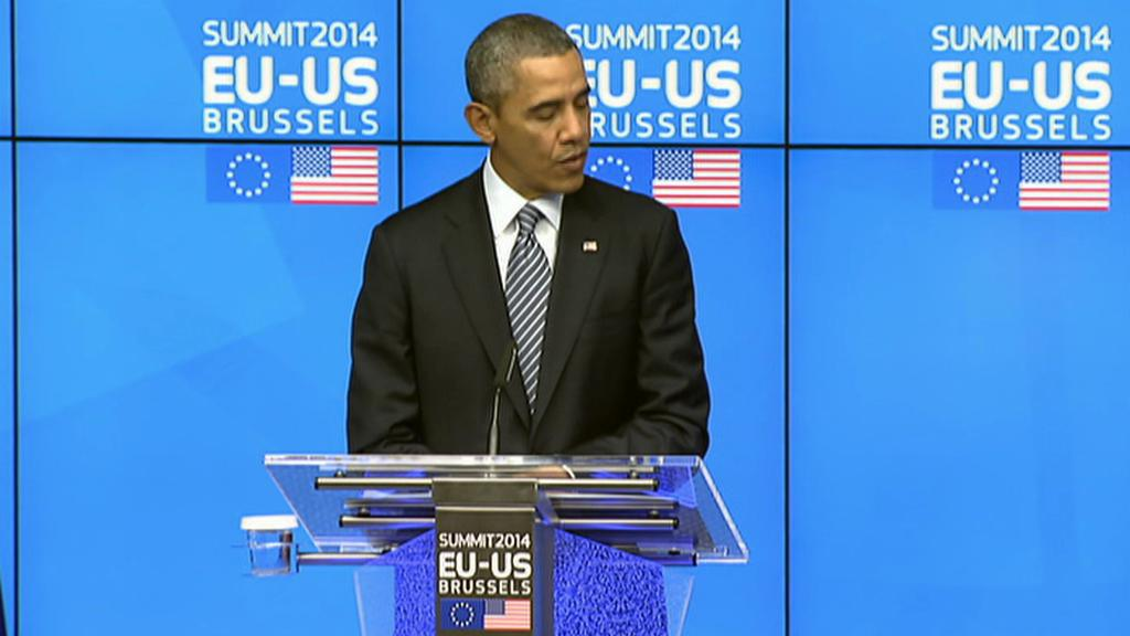 Barack Obama na brífinku po summitu EU-USA