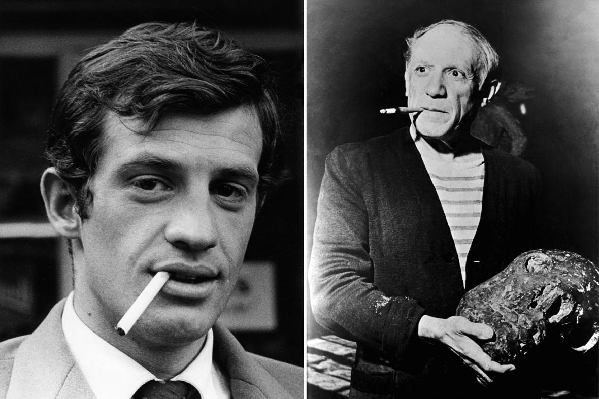 Jean-Paul Belmondo a Pablo Picasso