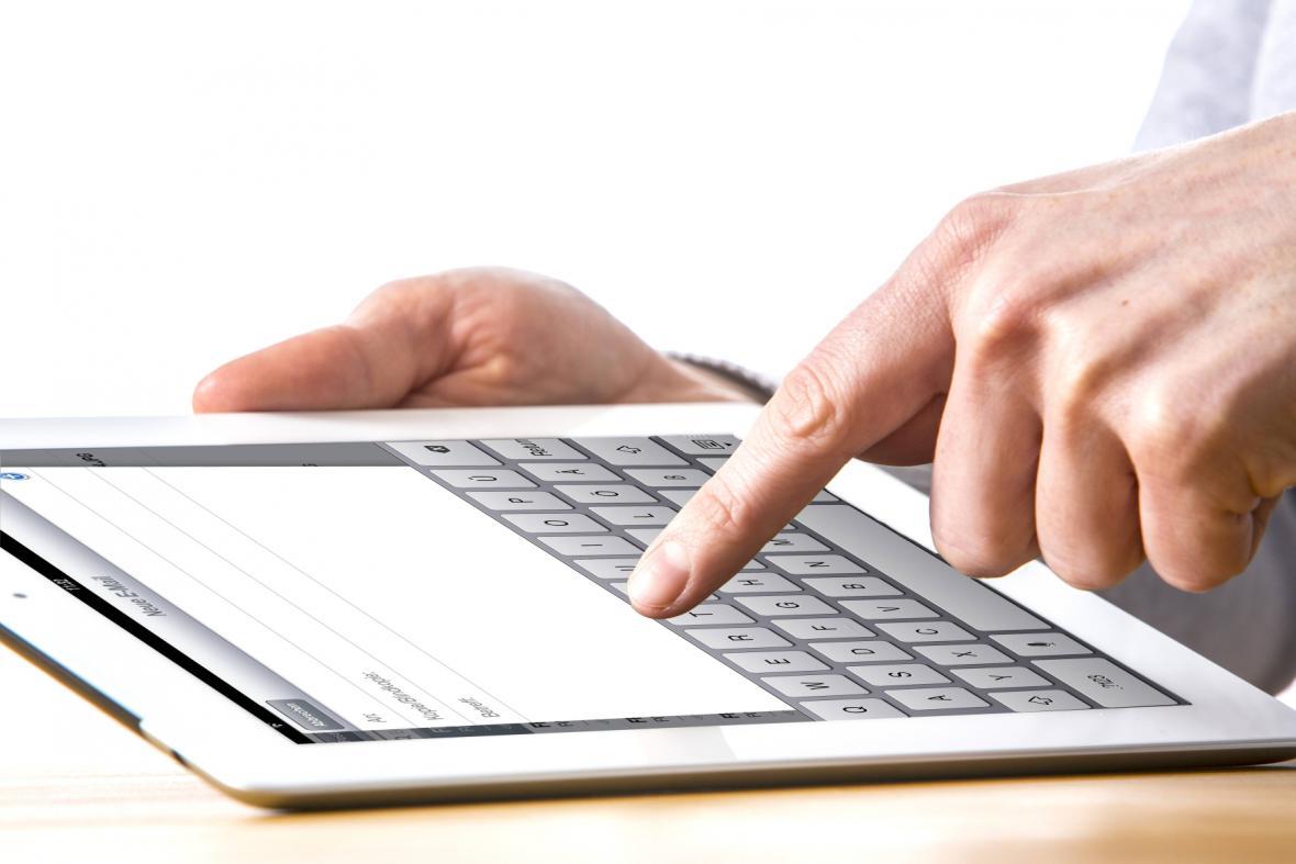 Práce na tabletu