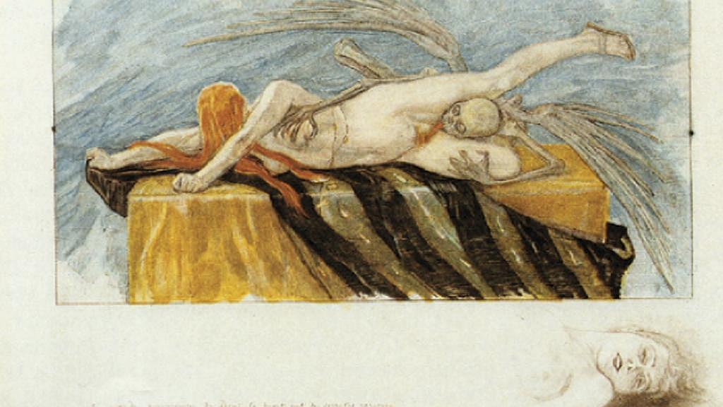 Félicien Rops / Agonie (kolem 1870)