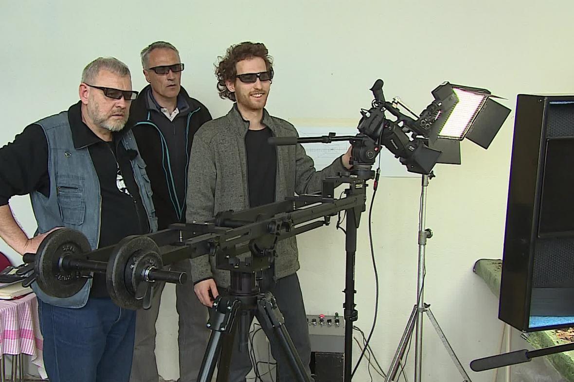 Kvalitu 3D záběrů dokumentaristé kontrolují přímo během natáčení