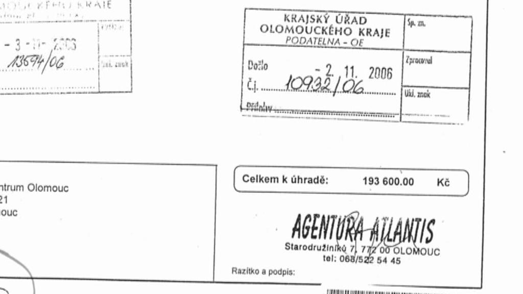 Agentura Atlantis figuruje v řadě podezřelých zakázek olomouckého hejtmanství