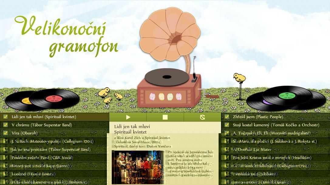 Velikonoční kalendář: Gramofon