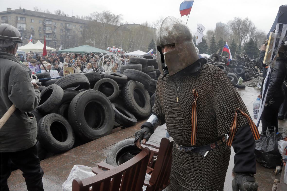 Proruský aktivista na východě Ukrajiny
