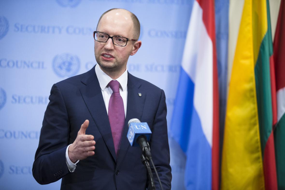 Arsenij Jaceňuk hovořil v RB OSN