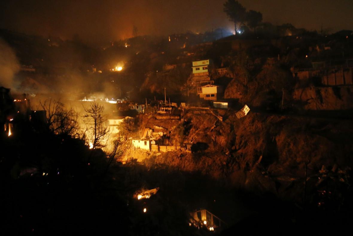 Požár v chilském Valparaísu